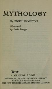 Cover of: Mythology by Hamilton, Edith.