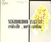 Neighborhood analysis, Reidsville, North Carolina by Michael P. Brooks