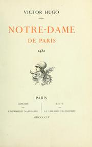Cover of: Notre-Dame de Paris, 1482 by Victor Hugo