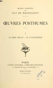 Cover of: Oeuvres posthumes by Guy de Maupassant