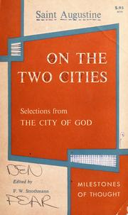 Cover of: On the two cities by Augustine of Hippo