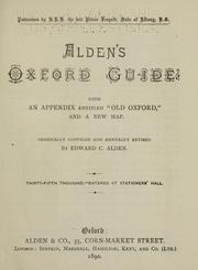 Cover of: Alden's Oxford guide by Edward C. Alden