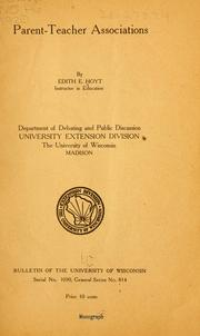 Cover of: Parent-teacher associations by Edith Evans Hoyt