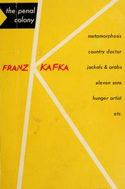 Cover of: The penal colony by Franz Kafka