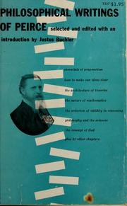 Cover of: Philosophical writings of Peirce by Charles S. Peirce