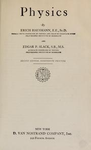 Cover of: Physics by Erich Hausmann