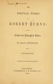 Cover of: The poetical works of Robert Burns by Robert Burns
