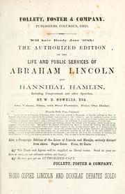 Cover of: Political debates between Hon. Abraham Lincoln and Hon. Stephen A. Douglas by Abraham Lincoln