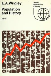 Population and history by E. A. Wrigley