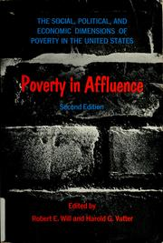 Poverty in affluence by Robert Erwin Will