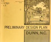 Preliminary design plan, Dunn, N.C. by North Carolina. Division of Community Planning