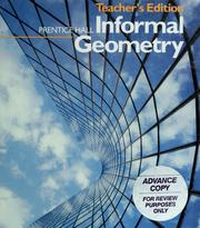 Cover of: Prentice Hall informal geometry by