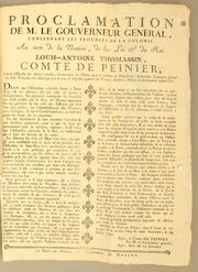 Proclamation by Peinier, Louis Antoine Thomassin comte de