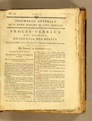 Procès-verbaux des séances et journal des débats