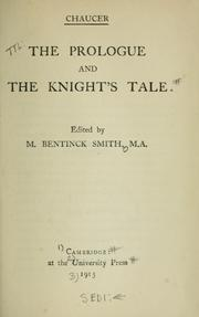 Cover of: The prologue and The knight's tale by Geoffrey Chaucer