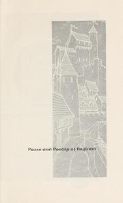 Cover of: Prose and poetry of England by [ed.] by Julian L. Maline.