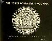 Public improvements program, Kinston, North Carolina by North Carolina. Division of Community Planning