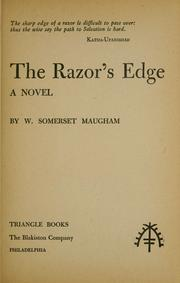 Cover of: The razor&#39;s edge by W. Somerset Maugham