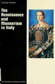 Cover of: The Renaissance and mannerism in Italy by Alastair Smart