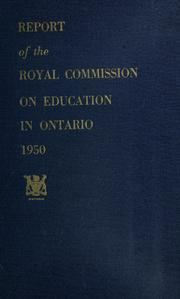 Report of the Royal Commission on Education in Ontario, 1950 by