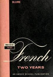 Cover of: Review text in French two years by Eli Blume