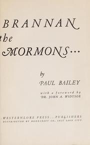 Sam Brannan and the California Mormons by Paul Dayton Bailey