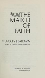 Cover of: Samuel Morris & the march of faith by Lindley J. Baldwin