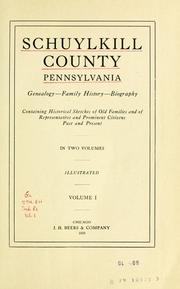 Cover of: Schuylkill County, Pennsylvania by