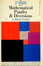 Cover of: The Scientific American book of mathematical puzzles & diversions by Martin Gardner