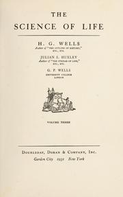 The science of life by H. G. Wells