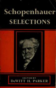 Selections by Arthur Schopenhauer