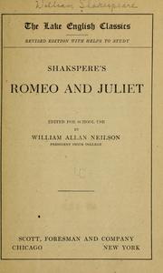 Shakespeare's Romeo and Juliet by William Shakespeare