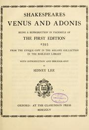 Cover of: Shakespeares Venus and Adonis by William Shakespeare