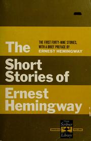Cover of: Short stories by Ernest Hemingway