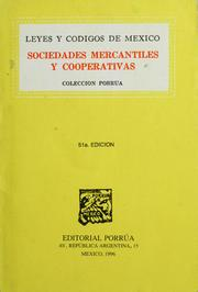 Sociedades mercantiles y cooperativas by Mexico.