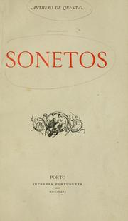Sonetos by Antero de Quental