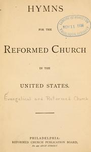 Cover of: Hymns for the Reformed Church in the United States by Reformed Church in the United States