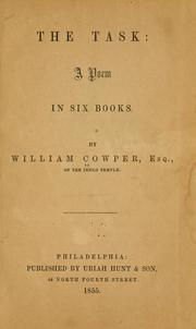 Cover of: The task by Cowper, William