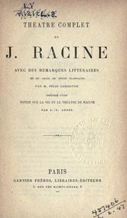 Cover of: Théatre complet by Jean Racine
