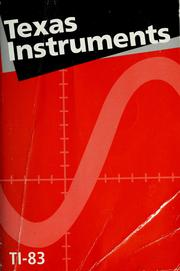 TI-83 graphing calculator guidebook. by