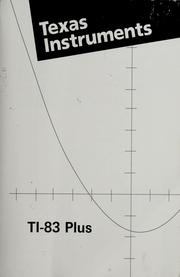 TI-83 plus graphing calculator guidebook. by
