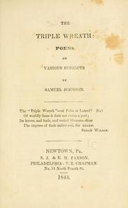 The Triple Wreath: Poems on Various Subjects by Samuel Johnson
