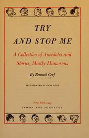 Cover of: Try and stop me by Bennett Cerf