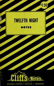 Cover of: Twelfth night by Clifton K. Hillegass
