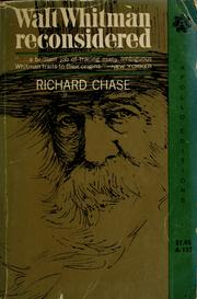 Walt Whitman reconsidered by Richard Volney Chase