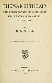 Cover of: The war in the air by H. G. Wells