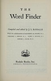 The word finder by J. I. Rodale
