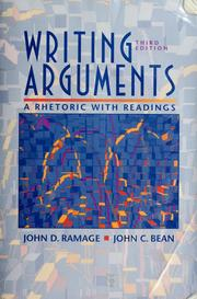 Cover of: Writing arguments by John D. Ramage