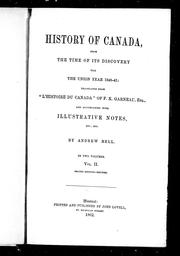 History of Canada by F.-X Garneau