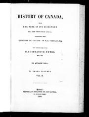 History of Canada by F. X. Garneau